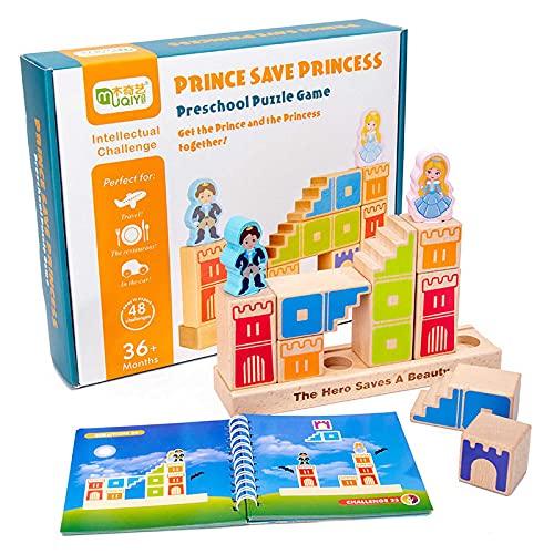 LucaSng Coloridos bloques de construcción de madera Juguetes de madera para niños Bloques de construcción para bebés Bloques de construcción Juguetes de madera Juguetes de pista de bolas de madera 24 * 6 * 29.5cm / C