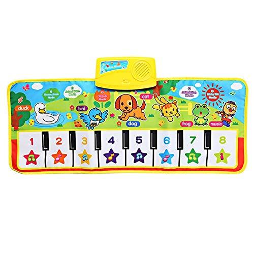 XJL Manta de baile Alfombra de baile 71X28cm Bebé Inglés Musical Piano Música Alfombra Bebé Niño Alfombra de juego Manta Educativa Juguete electrónico para bebé Regalo