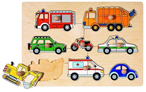 goki 57996 - Puzzle apilable - Medios de transporte