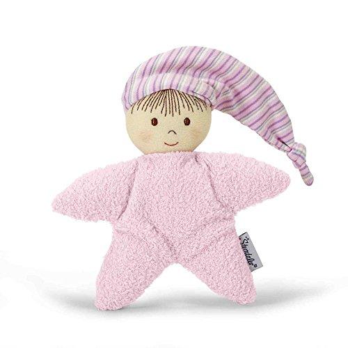Sterntaler 3001451 muñeca de juego, sonajero integrado, edad: para bebés desde el nacimiento, 16 cm, rosa