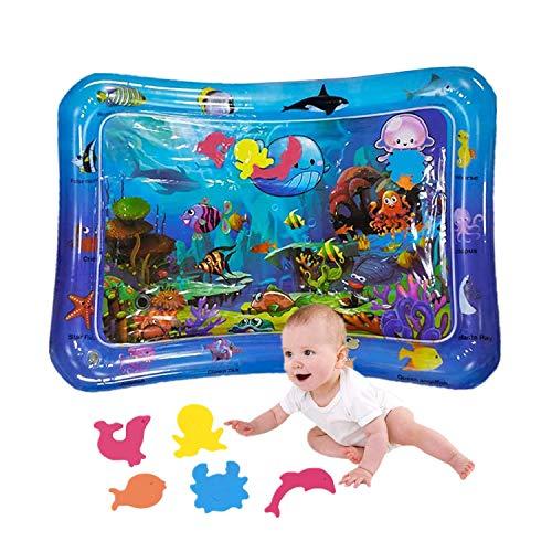 Alfombra de agua bebé Alfombra de juego de agua 3 meses Juguetes para bebés a partir de 9 meses