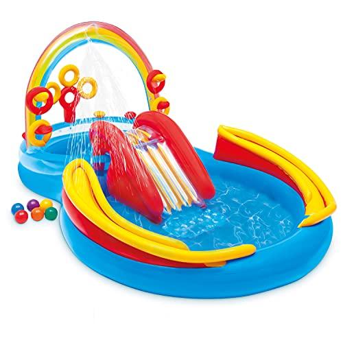 Centro de juegos Intex Rainbow Ring - Piscina infantil elevada - Piscina infantil - 297 x 193 x 135 cm - Para más de 3 años