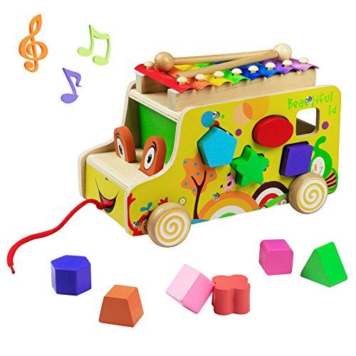 Yoptote xilófono niños juguetes Montessori de 1 2 3 años juego de martillo instrumentos musicales para niños de 1 2 3 años juguete de madera regalo 1 2 3 años niño niña