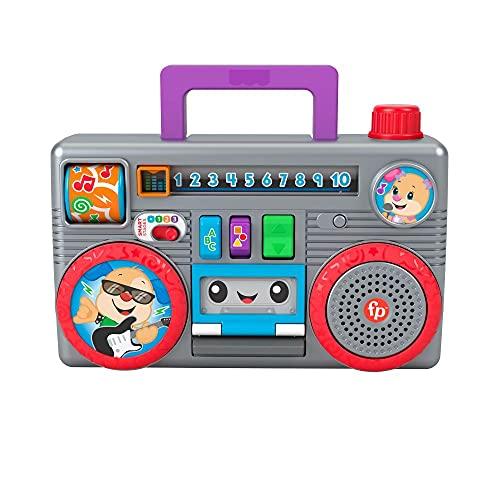 Fisher-Price GYC11 - juguetes educativos divertidos para aprender Boombox, en alemán, juguetes musicales para bebés y niños pequeños, juguetes a partir de 6
