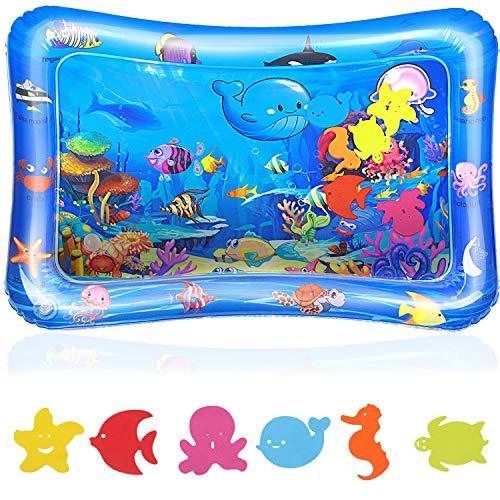 Tapete de agua para bebé - tapete de agua inflable Reastar tapete de juego de agua juguete sensorial - regalo de juguete perfecto para el entrenamiento del desarrollo sensorial del bebé (65 x 50 cm)