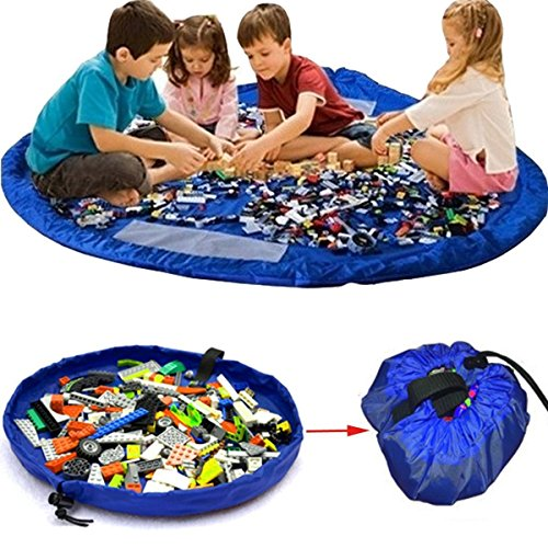 Manta y almacenamiento de juguetes Blue XL
