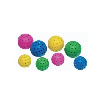 balon perforado sonoro para niños con discapacidad visual
