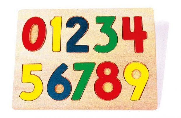 jugguete de madera encaje de números