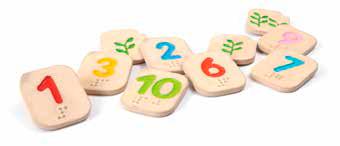 juguete para niños con discapacidad visual numeros del 1 al 10 en braille