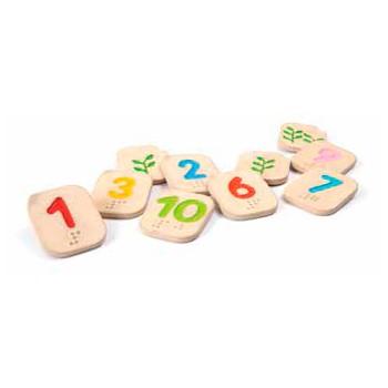juguete para niños con discapacidad visual , numeros en braille