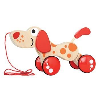 juguete de madera arrastre perrito