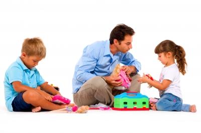 padres, hijos y jugar