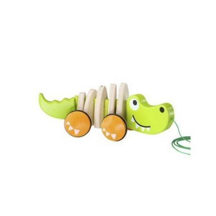 juguete de arrastre cocodrilo
