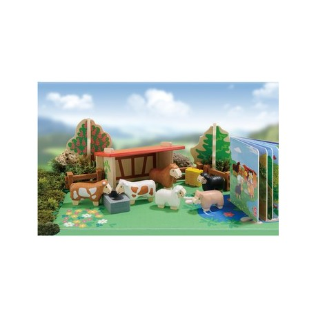 set de juguetes de animales y