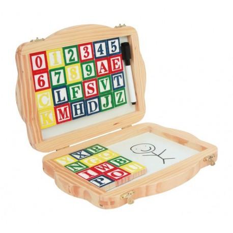 letras del abecedario que van dentro de una caja para guardarlas después del su aprendizaje