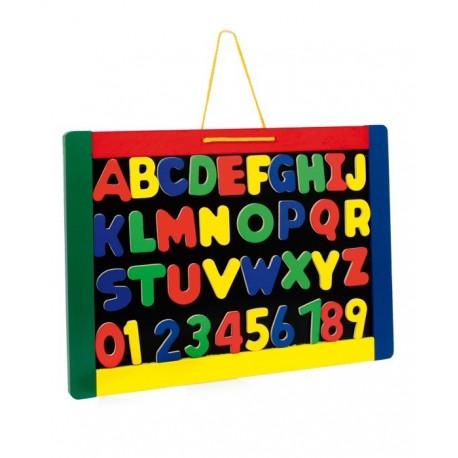 pizarra magnética con letras del abecedario