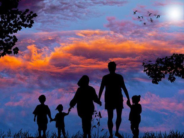 felicidad de la familia