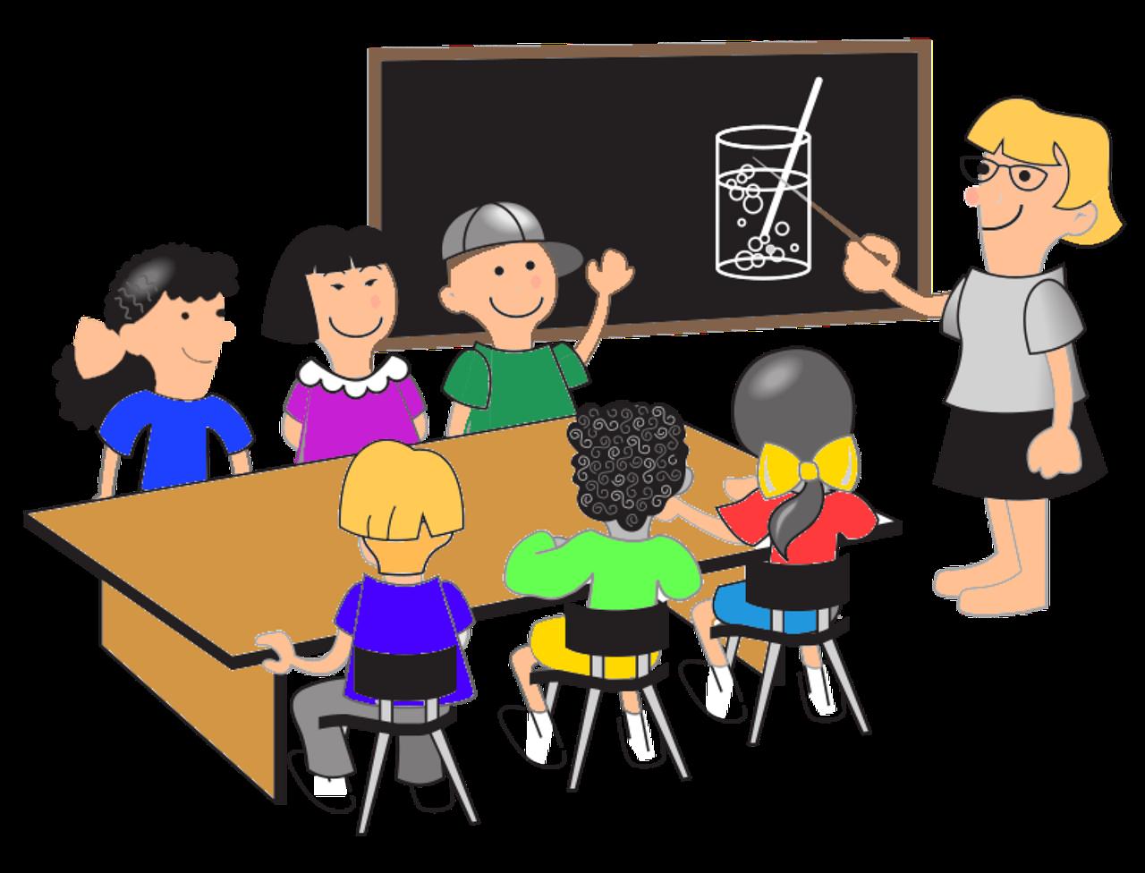 dibujo de niños en la escuela