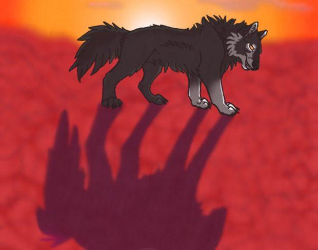 fabula infantil el lobo y su sombra