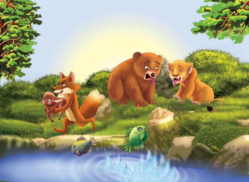 el leon el oso y el zorro
