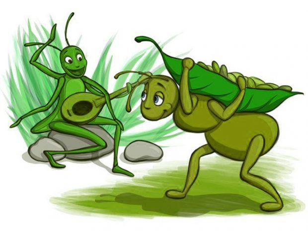 las hormigas y el saltamontes