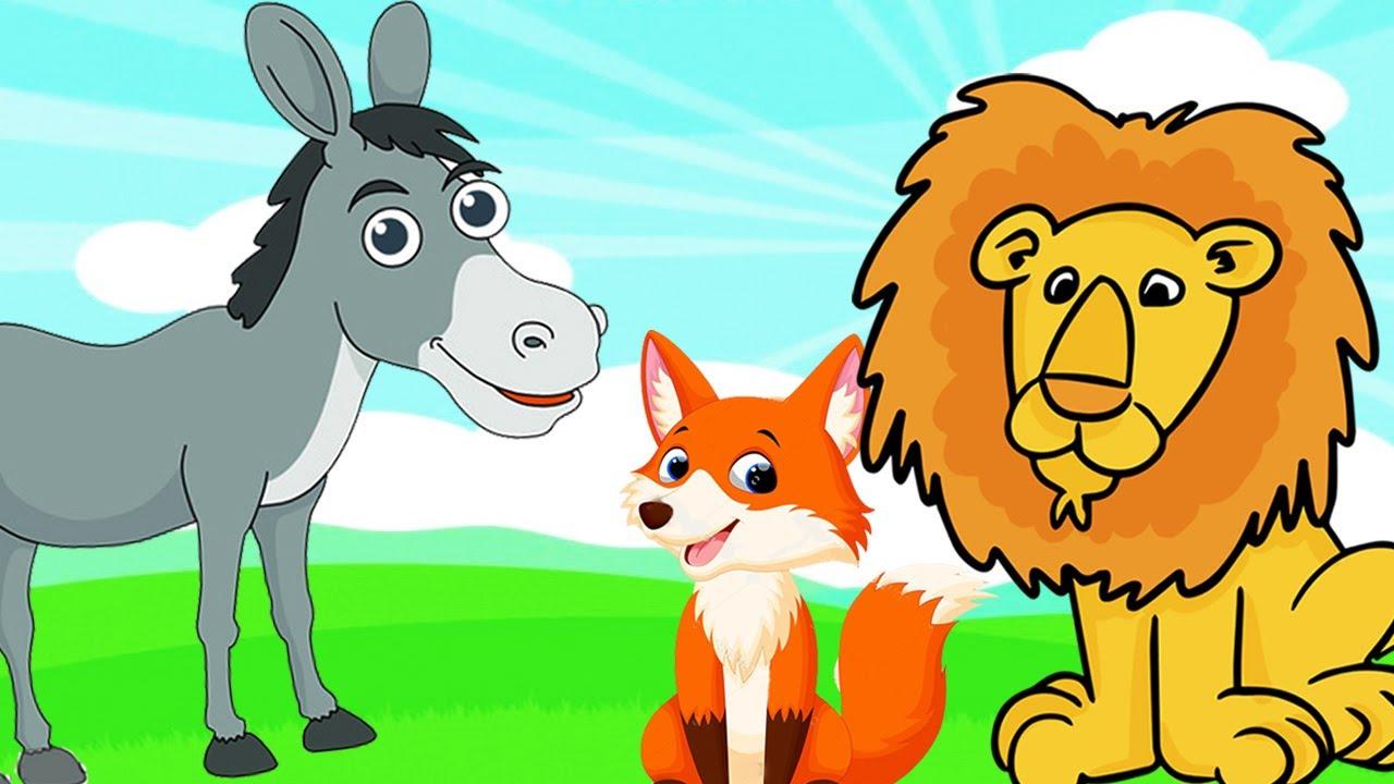 el leon el asno y el zorro