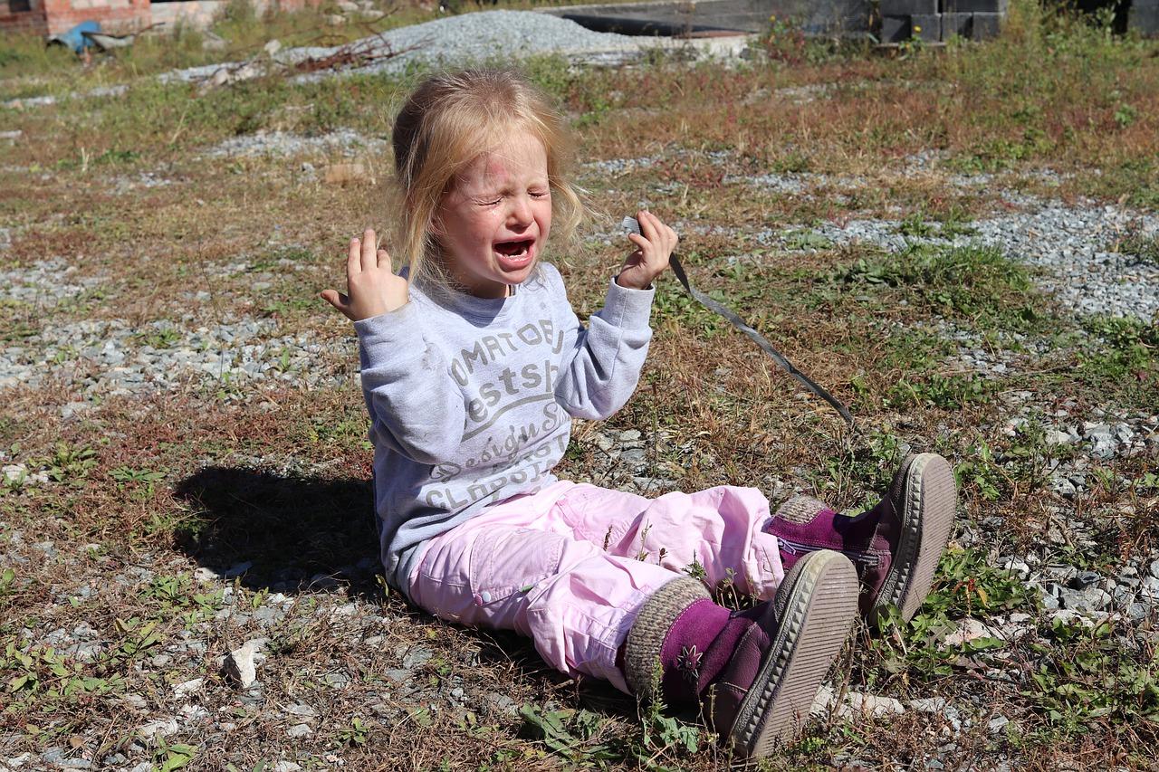 niña con berrinche