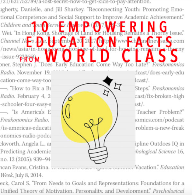 10 datos de educación que empoderan de clase mundial