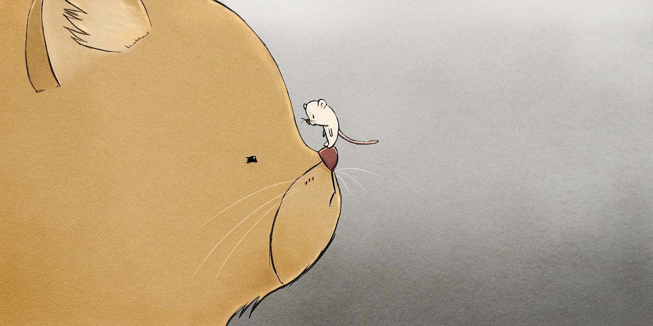 cuentos de grimm- el gato y el ratón hacen vida en comun