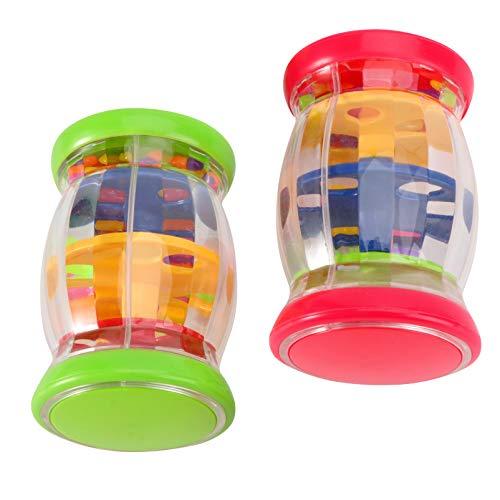 Toddmomy Baby Rainmaker Toys Cuentas Gotas de lluvia Música Sacudida Sonajero Rainmaker Juguetes para niños pequeños 2 piezas