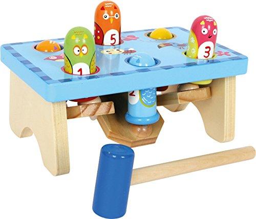 Knock bench en un diseño colorido con un juego de números
